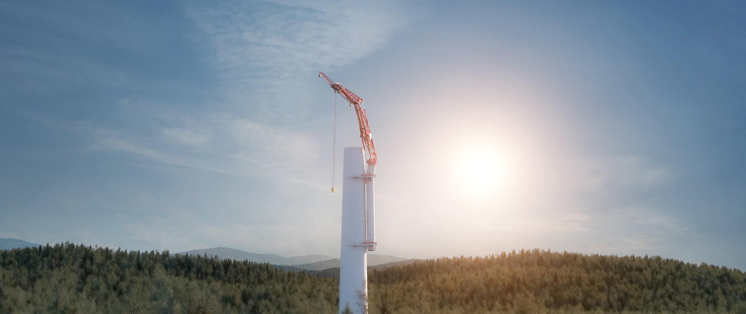 Climbing crane / Enercon